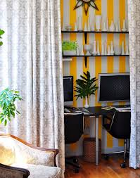 eclectic home office alison. Office, Inspiration For An Eclectic Home Office Remodel In New York With Multicolored Walls And Alison