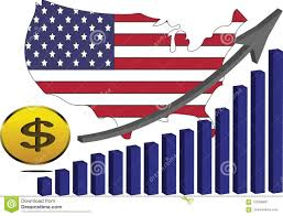 The American Economy Is Rising Stock Vector Illustration