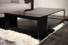 black and glass coffee table furniture style