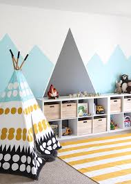 Diy kids room Bedroom Ideas the Party Parade Has Their Own Version Of Diy Mountain Mural And We Love It Soft As Sunrise This Easy Diy Paint Project Is About The Layers The Budget Decorator How To Paint Wall Murals For Kids 10 Easy Diy Projects The