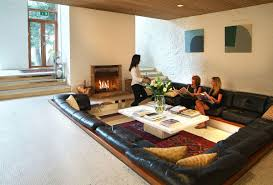 Centered Conversation Social Pit -Sunken Sitting Areas to Fit Your Modern  Mansion - Homesthetics - Inspiring ideas for your home.