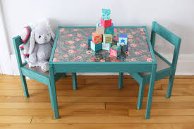 kids table and chair set the result is a totally custom piece that is going to look perfect with the modern yet whimsical vibe i m going for in our