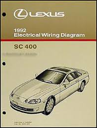 lexus electrical wiring diagram manual lexus image 1992 lexus sc 400 electrical wiring diagram manual original sc400 on lexus electrical wiring diagram manual