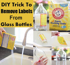 diy trick to remove labels from glass bottles home things