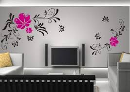 Pleasant Design Ideas Living Room Wall Paint Designs Sitting On Home Unique Wall Painting Living Room
