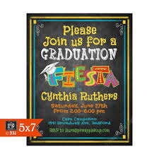 Online Graduation Party Invitations Printable Fiesta Graduation Party Invitation Graduation Chalkboard