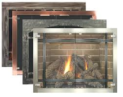 insulated fireplace cover insulated glass fireplace doors