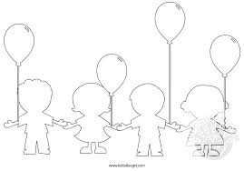 Bambini Con I Palloncini Da Colorare Tuttodisegnicom