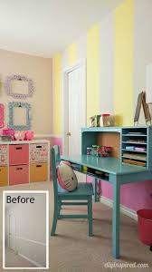 How to Paint Stripes on a Bedroom Wall Pink yellow Bedrooms and Walls
