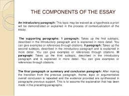 dani m ordo atilde plusmn ez academic writing unit  3 the components of the essay