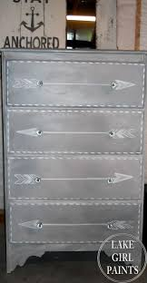 white girls furniture. lake girl paints gray and white arrow dresser girls furniture