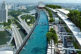 infinity pool singapore edge. Marina Bay Sands Hotel In Singapore - The Infinity Pool With Edge, Feels As Edge