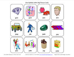 Inital J Speech Therapy Articulation Cards Front