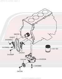 oem evo x engine > lubrication oil pump oil filter 12 110