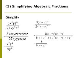 Algebraic Manipulation. Amendments to worksheet  Pg 3 Example 2 ...