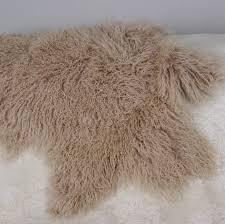 organic curly lambskin rug