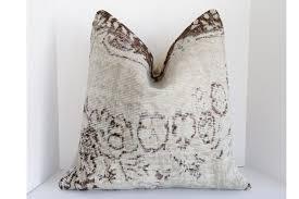 large grey wool kilim rug pillow