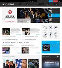 Website Template Newspaper Jm Hot News Joomla Template