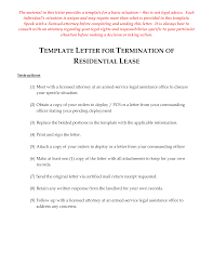 Free Letter For Termination Of Residential Lease Templates At