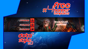 free banner templates 4 dota 2 pudge style 3 youtube