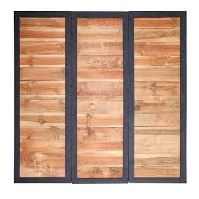 wood fence panels door. 2x6 Cedartone Wood Fence Panels Door