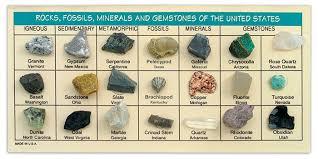 Mineral Chart Geology Rocks Fossils Minerals Gems Rock Identification