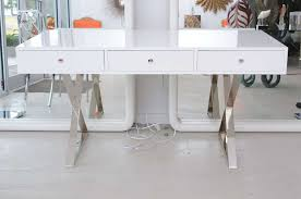 white lacquered furniture. image of white lacquer desk modern office style lacquered furniture e