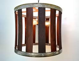 custom made craftsman drum barrel stave chandelier