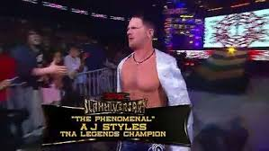 jbl world heavyweight champion. kurt angle vs. mick foley jeff jarrett a.j. styles samoa joe - king of the mountain match tna slammiversary 2009 jbl world heavyweight champion