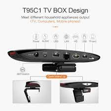 VONTAR T95C1 2GB 16GB 800W pixel Camera TV BOX Android 9.0 Smart TVBOX  2.4&5G Wifi 100M Support 1080P 4K Youtube Media Player|Set-top Boxes