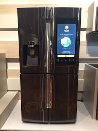 samsung refrigerator touch screen. samsung\u0027s super-fridge packs everything but the kitchen sink samsung refrigerator touch screen