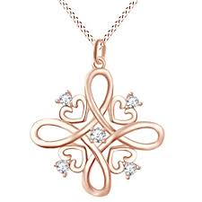 heart cubic zirconia pendant necklace