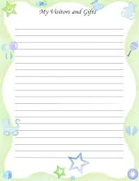 guest book template free free printable baby book page my visitors gifts