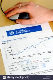 London Stock Exchange Index Chart Figurative Image Of A London Stock Exchange Ftse 100