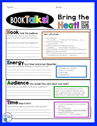 Book Talk Anchor Chart The Reading Roundup Bring The Heat To Your Book Talks