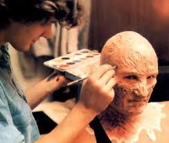 david miller makeup artist on the set of nightmare on elm st