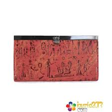 Red Coach Egyptian Wall Painting Large Wallets
