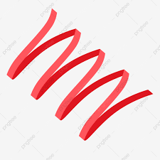 Vector Red Folding Ribbon Cartoon Material Download Red