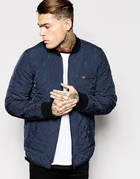 Lyst - True religion Reversible Bomber Jacket Quilted And Denim in ... & Gallery Adamdwight.com