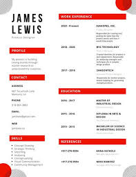 resumes templates 2018 red circle creative resume templates by canva