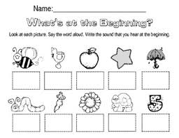These free worksheets are printable and designed to accommodate any lesson plan for reading that you may print the worksheets from either pdf or jpeg versions and provide them to your children or students. Beginning Sounds Worksheet By Megan Harmon Teachers Pay Teachers