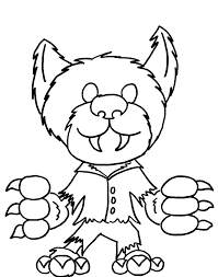 Small Picture Monster coloring pages werewolf ColoringStar