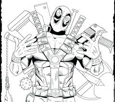 Deadpool Coloring Pages 922 Coloring Pages Stunning Deadpool