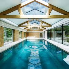 pool house interior. Contemporary Pool House By Re-Format Brings Together Stone, Copper And Oak Interior