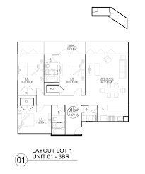 Stunning Three Bedroom Apartment Floor Plans Ideas Amazing - Loft apartment floor plans