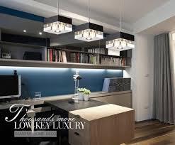 modern linear rectangular island dining room crystal chandelier led bar light