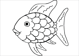 rainbow fish coloring page pictures printable template pages