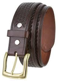 10310 basketweave men s heavy duty work uniform leather belt 1 1 2 wide brown