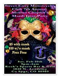 motorcycle club flyers street envy motorcycle club mother chapters 7th annual mardi gras