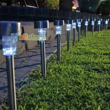 diy solar powered led outdoor garden lights interior design string home with motion detector uk